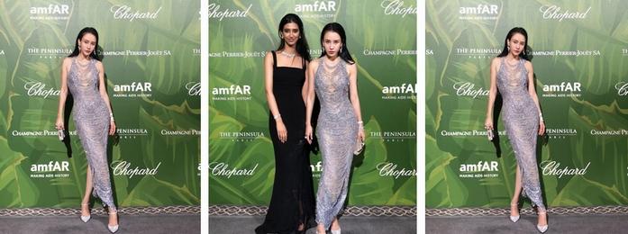 巴黎时装周amfAR&Chopard慈善晚宴 母其弥雅惊艳亮相