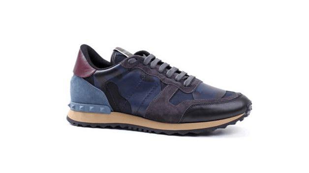 Valentino迷彩运动鞋,迷彩运动鞋的贵族典范