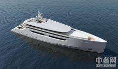 【豪华游艇】Nick Mezas公布最新49米全排水量豪华游艇设计图